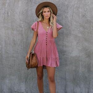 Vici Floral Button Down Babydoll Dress (NWOT)